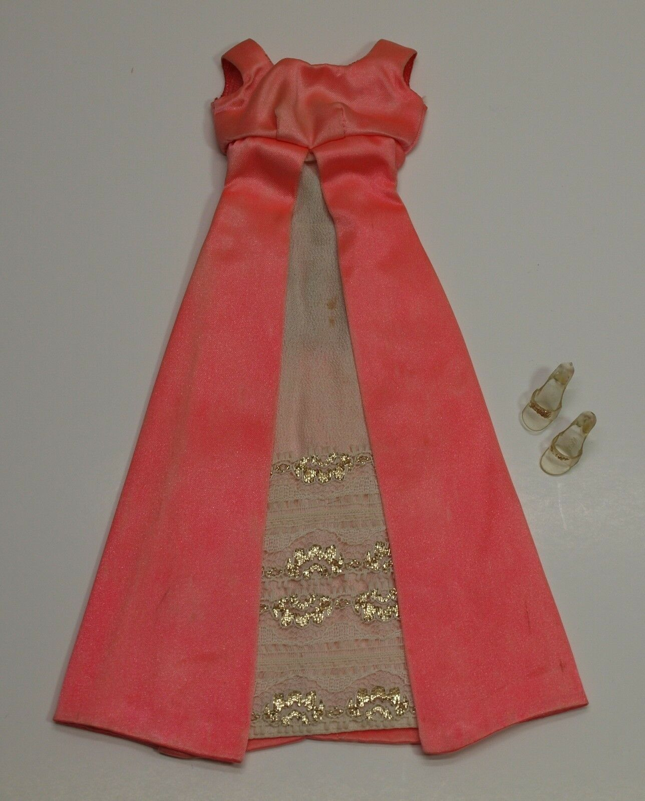 Vintage Barbie RED FANTASTIC Evening Gown Dress & shoes SEARS EXCLUSIVE