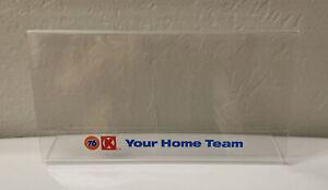 "Vintage Original Union 76 Gas Circle K Plastic  Sign Holder Advertising 8"" X 4"""