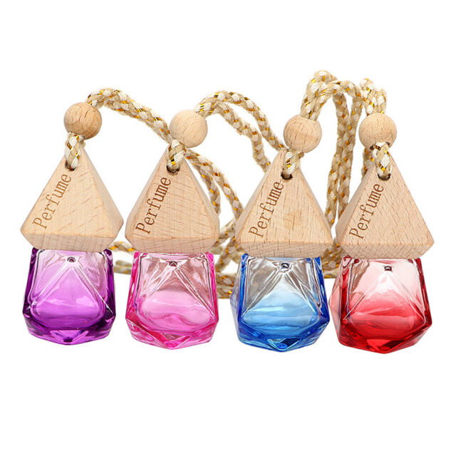 NEW Air Freshener Car Perfume Hanging Printed Fragrance Diffuser Bottle P Gift