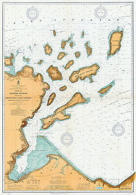 1909 Nautical Map of Apostle Islands Lake Superior