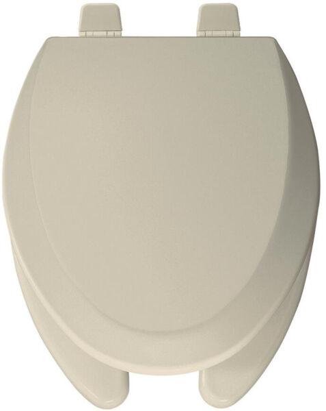 Toilet Seat Elongated Bone Open Front Sta Tite Cover Multi Coat Enamel Finish