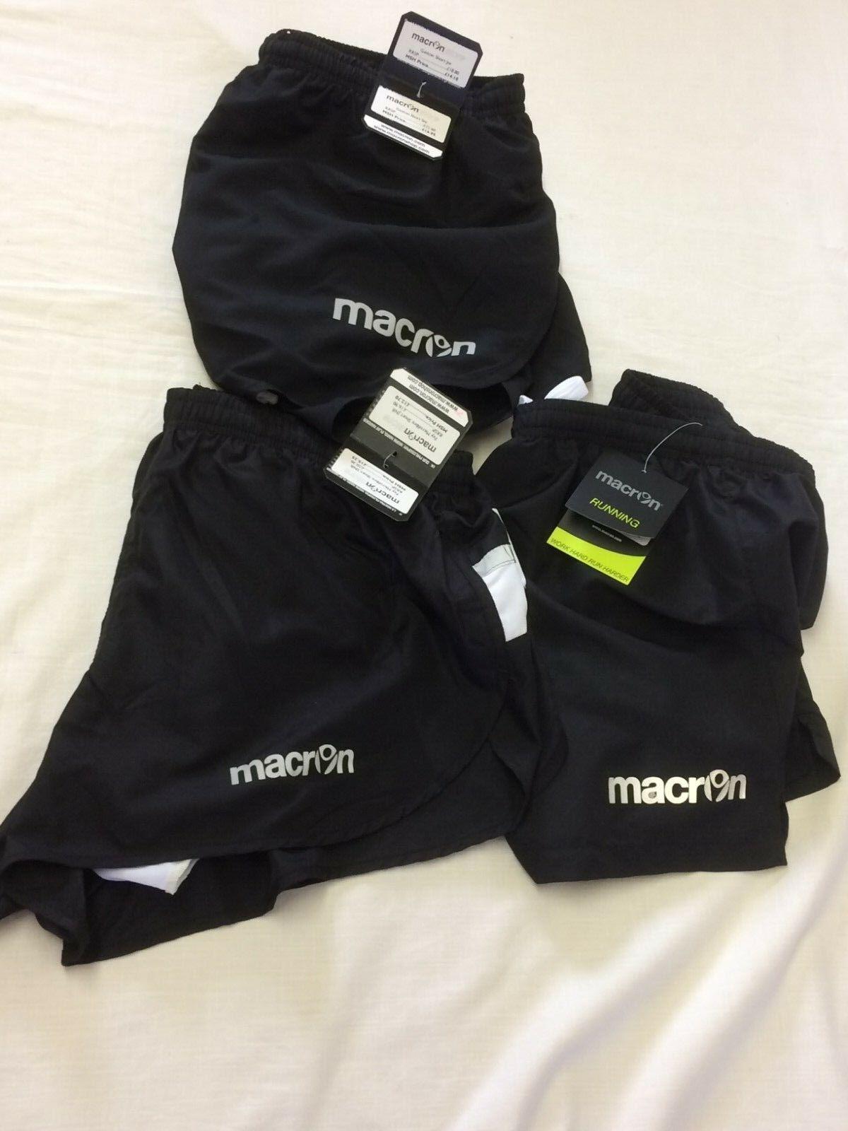 3 X MACRON RUNNING SHORTS MEDIUM- DIFFERENT STYLES