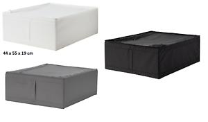 Ikea Scatole Guardaroba.Dettagli Su Ikea Skubb Custodia Scatole Sottoletto Guardaroba Bianco Grigio 44x55x19 Organizzatore Mostra Il Titolo Originale