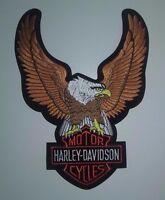 Vintage Harley Davidson Motorcycle Large Eagle Biker Patch