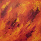 Original Art Acrylic Red Abstract Painting On Box Canvas Artwork By Warren Green