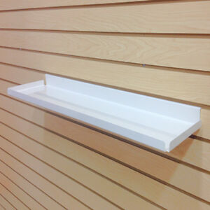 slatwall heavy duty steel metal shelf ivory rx 46 5 l 5 pieces rh ebay com metal shelves for slatwall metal shelves for slatwall