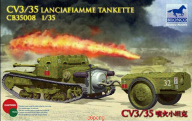 Bronco 1/35 35008 Italian CV3/35 Lanciafiamme Tankette Hot