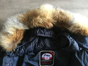 Pajar-Canada-NWT-Men-s-Teller-Jacket-Coat-Parka-Puffer-Fox-Fur-Down-Navy-Size-XL