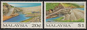 134-MALAYSIA-1987-KENYIR-HYDRO-ELECTRIC-POWER-STATION-SET-2V-FRESH-MNH-CAT-RM10