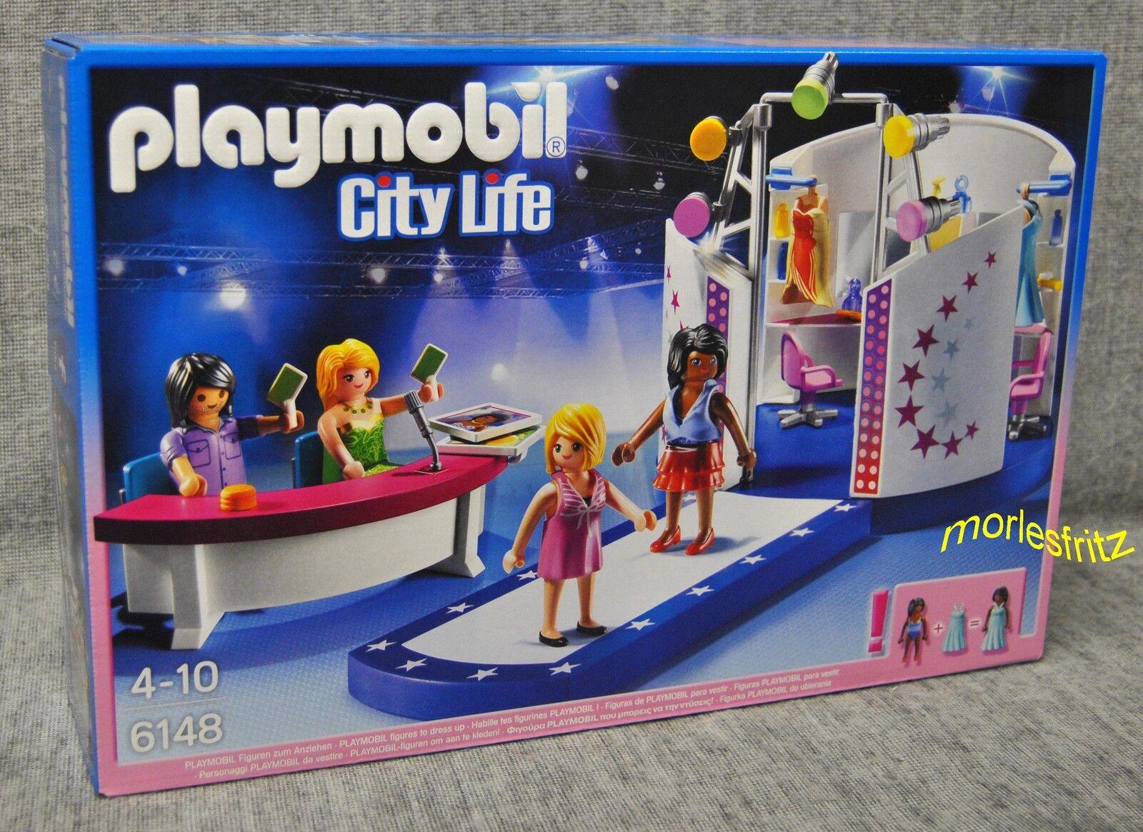 Playmobil 6148 Model-Casting auf dem Laufsteg – Castingshow - City Life - Neu