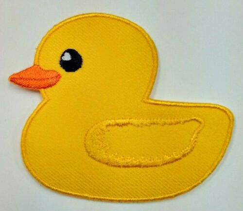 Cutie Yellow Duck embroidered iron on patch A208