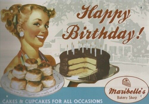 HAPPY BIRTHDAY CAKE SHOP BAKERY METAL PLAQUE TIN SIGN OTHER ONES ARE LISTED B347