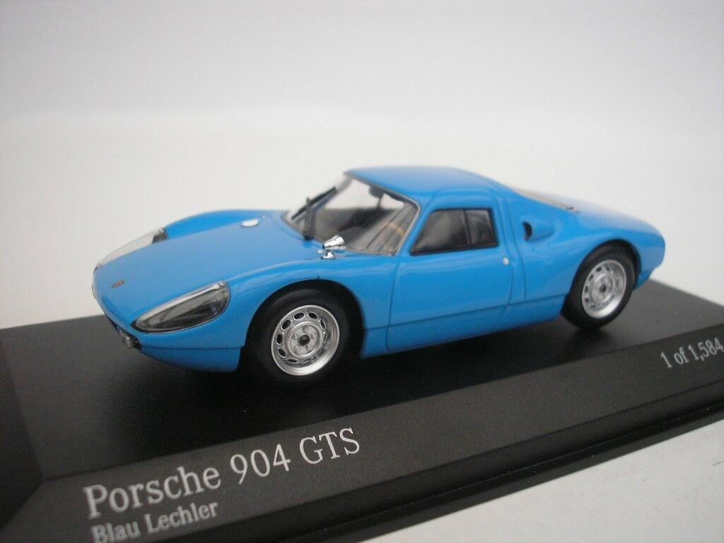 Porsche 904 GTS 1964 bluee LECHLER 1 43 Minichamps 400065720 NEW