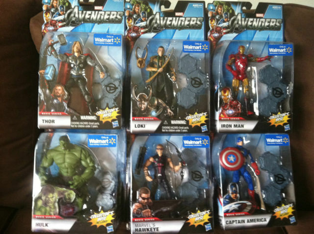 AVENGERS WAL-MART EXCLUSIVE COMPLETE SET OF 6  FIGURES
