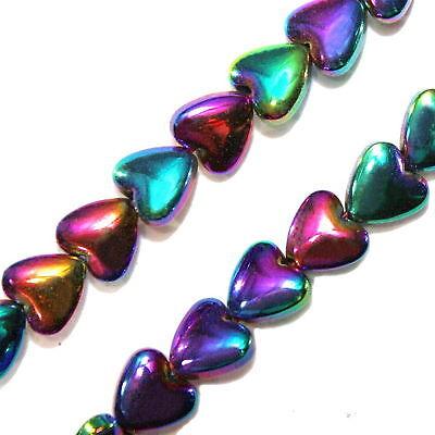 "5x8mm Rainbow  Hematite Barrel Beads 16/"""