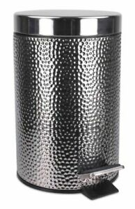 Home-Basics-WB41272-Hammered-Waste-Bin-Stainless-Steel
