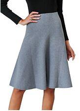 fe52b3d116 Fashiomo Women's High Waist Midi Skater Skirt Vintage A Line Flared Short  Skirt