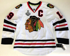 buy popular 9477d 84cf1 Details about JONATHAN TOEWS CHICAGO BLACKHAWKS 2010 STANLEY CUP REEBOK  EDGE AUTHENTIC JERSEY