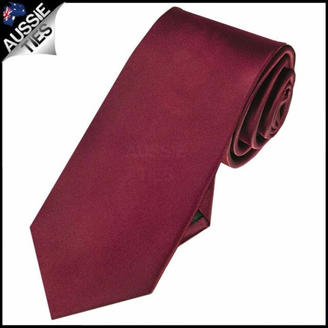018ecb15922b Mens Burgundy Red Plain 7cm Slim Tie