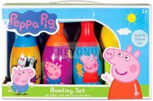 Disney-Peppa-Pig-Bowling-Set-includes-6-Pins-amp-1-Bowling-Ball