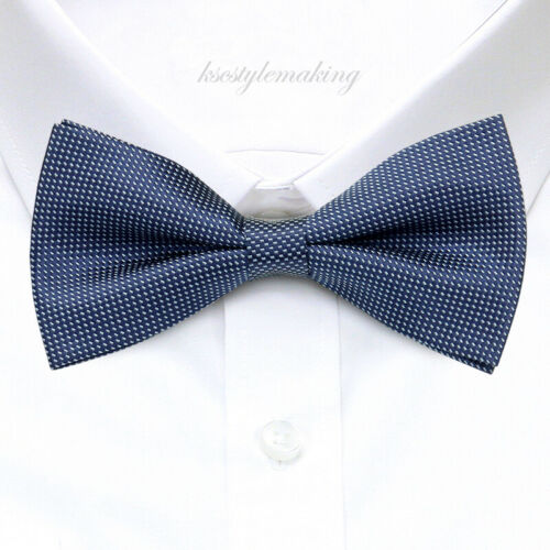 *BRAND NEW* NAVY/&GRAY LUXURY JACQUARD HARD-TO-FIND TUXEDO MENS BOW TIE B839