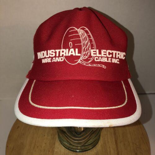 80 Lato Strisce Camionista Cavo Anni Vintage Elettrico Industrial Usa Cappello wSHn5xY