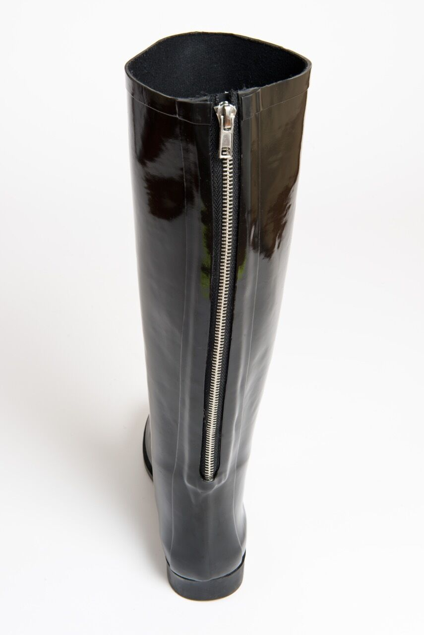 Müd Designer Stivali Wellington-GOMMA-NERI Stivali Da Equitazione Con Cerniera