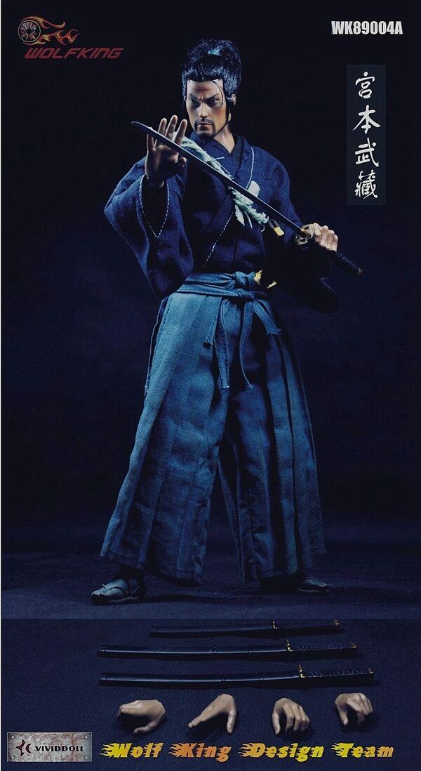 1/6 1/6 1/6 Wolfking WK89004A Miyamoto Takehide Japan Samurai 12