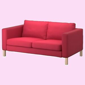 Phenomenal Details About Ikea Karlstad Sivikpink Red2 Seat Loveseat Slip Cover New Watermelon Nip Rare Onthecornerstone Fun Painted Chair Ideas Images Onthecornerstoneorg