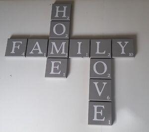 scrabble buchstaben gro 12 x12 cm als wanddeko a z ebay. Black Bedroom Furniture Sets. Home Design Ideas
