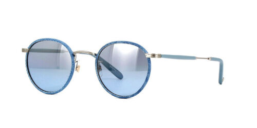 "Garrett Leight /""Wilson/"" D-BS-POBLU//BSHG Denim Blue Blue Gradient Sunglasses"