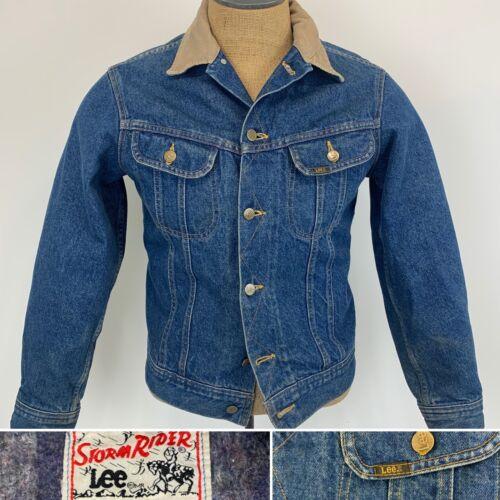 Vintage Lee Storm Rider Denim Jacket Blanket Lined