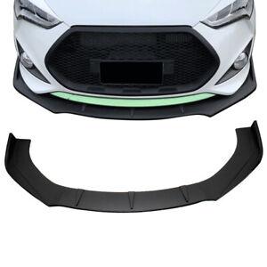 Fit for 3PCS Front Bumper Lip Body Kit Spoiler Splitter For Hyundai Veloster 2013-2017