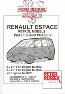 Details about Renault Espace Phase III & IV Petrol Workshop Manual Service  Repair 1997-2005
