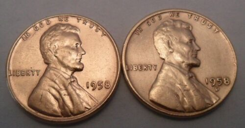 **FREE SHIPPING** 2 Coins Penny Coin Set 1958 P /& D Lincoln Wheat Cent