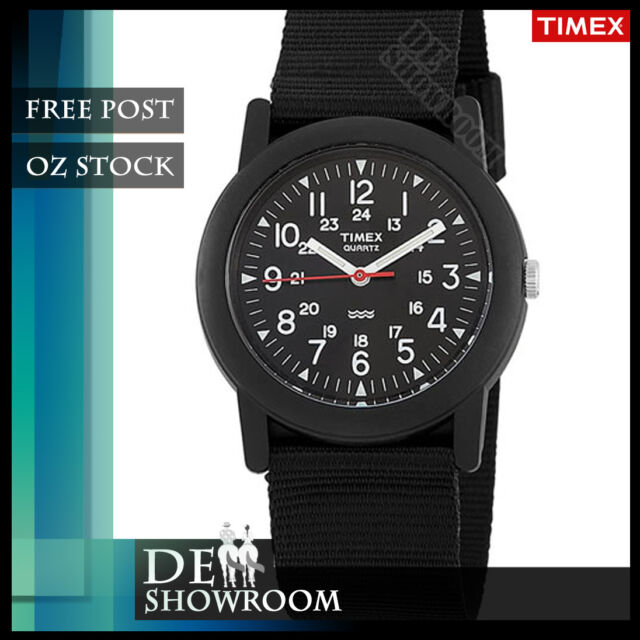 Timex Men's Camper Watch, Black Nylon Strap, T18581 OZ SELLER FREE POST