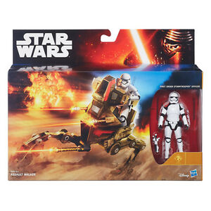 STAR WARS ASSAULT WALKER + STORMTROOPER OFFICER / THE FORCE AWAKENS / HASBRO