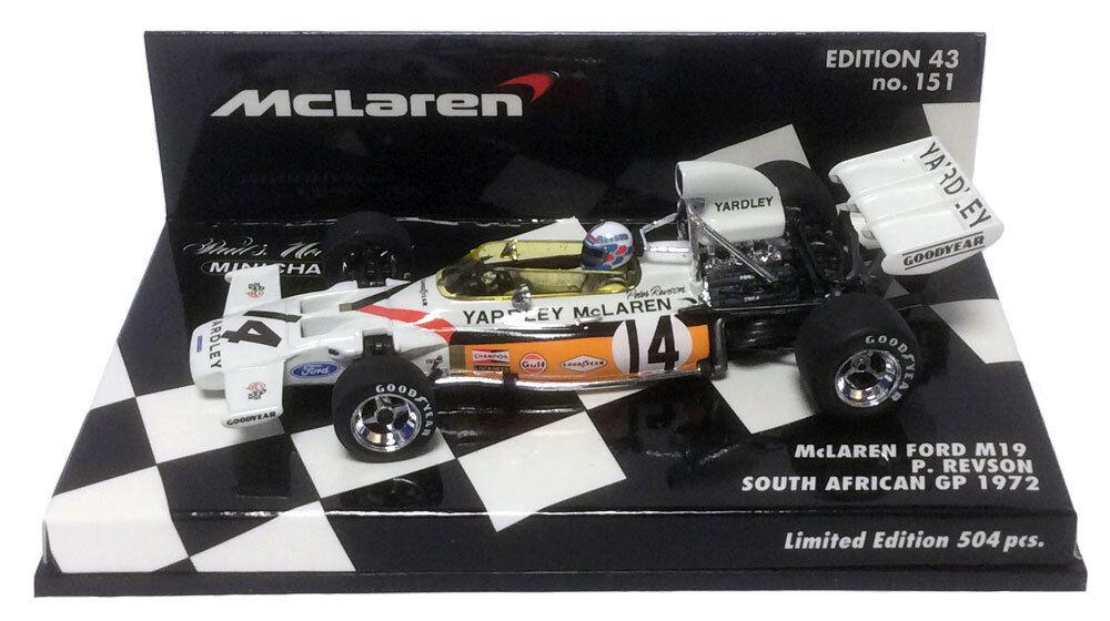Minichamps McLaren M19 Yardley South African GP 1972 - Peter Revson 1 43 Scale