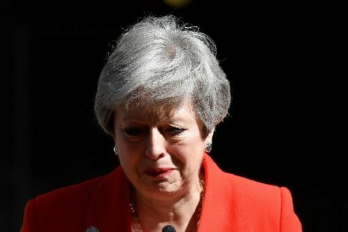 A4 glossy picture Theresa May resignation speech photograph 3