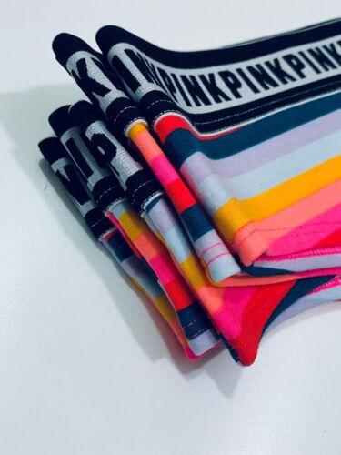 Victoria/'s Secret Pink Logo cheekster panty CINQ pack RRP £ 9 Chacun