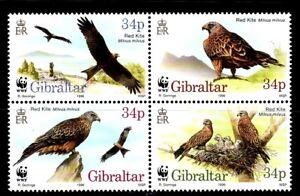 SELLOS-TEMA-WWF-GIBRALTAR-1996-N-783-6-AVES-MILANO-REAL-4v