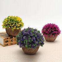 Artificial Grass Flowers Plants In Pot Home Balcony Kitchen Office Shop Decor