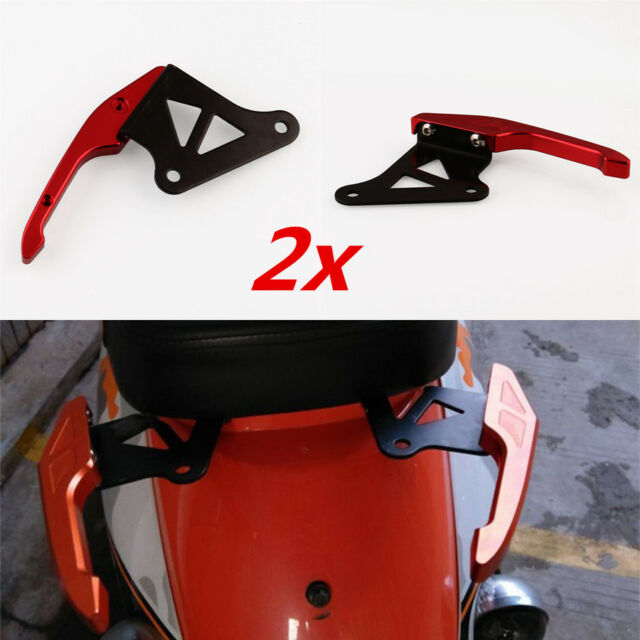 2x CNC Motorcycle Rear Seat Backrest Handle Handrail Grip For Honda Grom MSX125