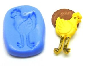 Small Owl Silicone Bird Mould Sugarcraft Jewellery Card Topper Food Safe Tumdee