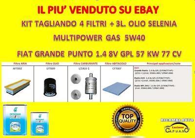 KIT TAGLIANDO FIAT GRANDE PUNTO 1.4 GPL 57Kw 77cv 2009 ...