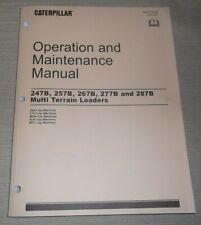 Cat Caterpillar 247b 257b 267b 277b 287b Skid Steer Operation Maintenance Manual