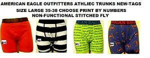 AMERICAN EAGLE ATHLETIC TRUNKS SIZE LARGE 35-38 CHOOSE BY NUMBER NEW/TAGS