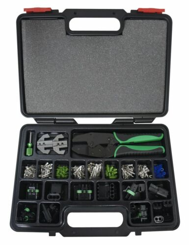 Astro Weather Pack Interchangeable Ratcheting Crimping Tool Set 220 pc 9478