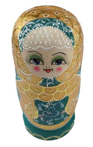 Matroschka Matrjoschka  20 cm 7 teilig Handarbeit Russische Puppe Babuschka