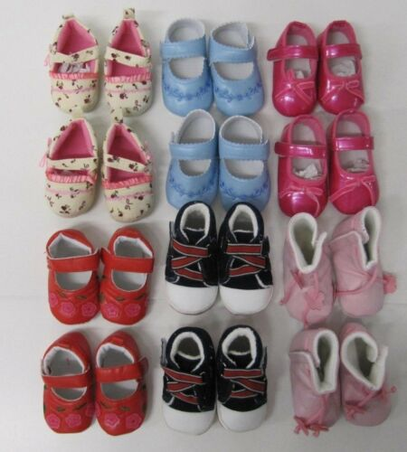 Baby Shoes Booties wholesale 10 pair Assorted First size 0-6 months pink blue